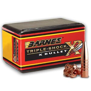 "Barnes Triple Shock X Lead Free .270/6.8mm Caliber .277"" Diameter 150 Grain Solid Copper Hollow Point Flat Base Projectile 50 Per Box 30269"