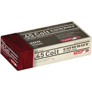 Aguila Cowboy Action .45 LC Ammunition 50 Rounds 200 Grain SP 600fps