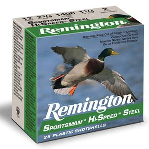 "Remington Sportsman 12 Ga 3.5"" #2 Steel 1.375oz 250 rds"