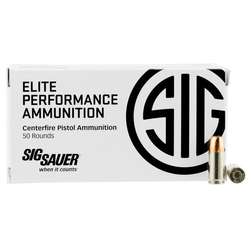 SIG Sauer Elite Performance V-Crown 9mm Ammunition 50 Rounds 147 Grain V-Crown JHP 985fps