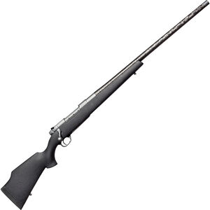 "Weatherby Mark V CarbonMark Bolt Action Rifle .300 Wby Mag 26"" Carbon-Fiber Threaded Barrel Black Composite Stock Grey Cerakote Finish"
