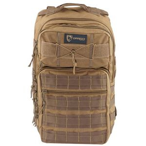"""Drago Gear Ranger 15"""" Laptop Backpack 18"""" x 17.5"""" x 12"""" MOLLE Webbing 1,463 Cubic Inches Hydration Reservoir Compatible Tan 14309TN"""