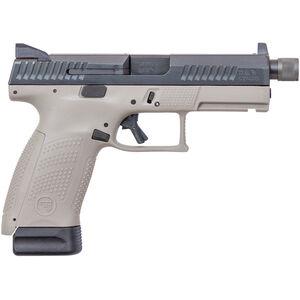 "CZ P-10 C Urban Grey Suppressor-Ready 9mm Luger Semi Auto Pistol 4.61"" Threaded Barrel 17 Rounds High Metal Night Sights Fiber Reinforced Polymer Frame Black/Grey Two Tone Finish"