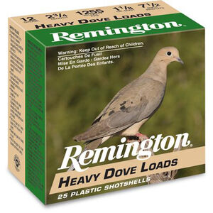 "Remington ShurShot Heavy Dove 20 Gauge Ammunition 250 Rounds 2.75"" #7.5 Lead 1 Oz RHD2075"