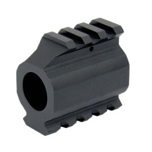 TacFire AR .750 Low Profile Gas Block With Top And Bottom Rails Aluminum Black MAR002
