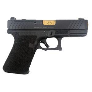"Shadow Systems SG9C 9mm Luger Semi-Auto Handgun 4.01"" TiN Barrel No Magazine Stippled Frame COPS Slide Black"