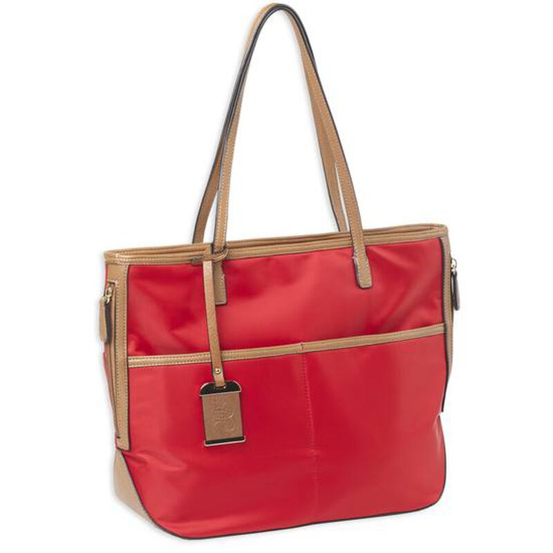 Bulldog Cases Electric Red Travelers Tote with Concealed Carry Pocket and Holster
