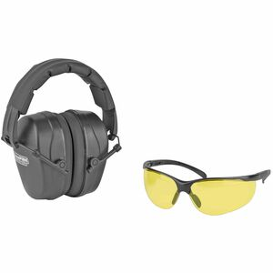 Champion Shooting Combo Kit, Black Passive Earmuff, Amber Lens 40626