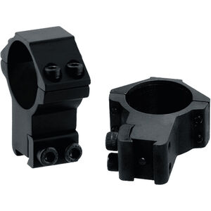 "Leapers UTG Airgun/.22 Rimfire Rings 3/8"" Dovetail 30mm Diameter High Profile Aluminum Black"