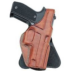 Galco PLE Paddle Holster Fits GLOCK 17/22 Right Hand Leather Tan