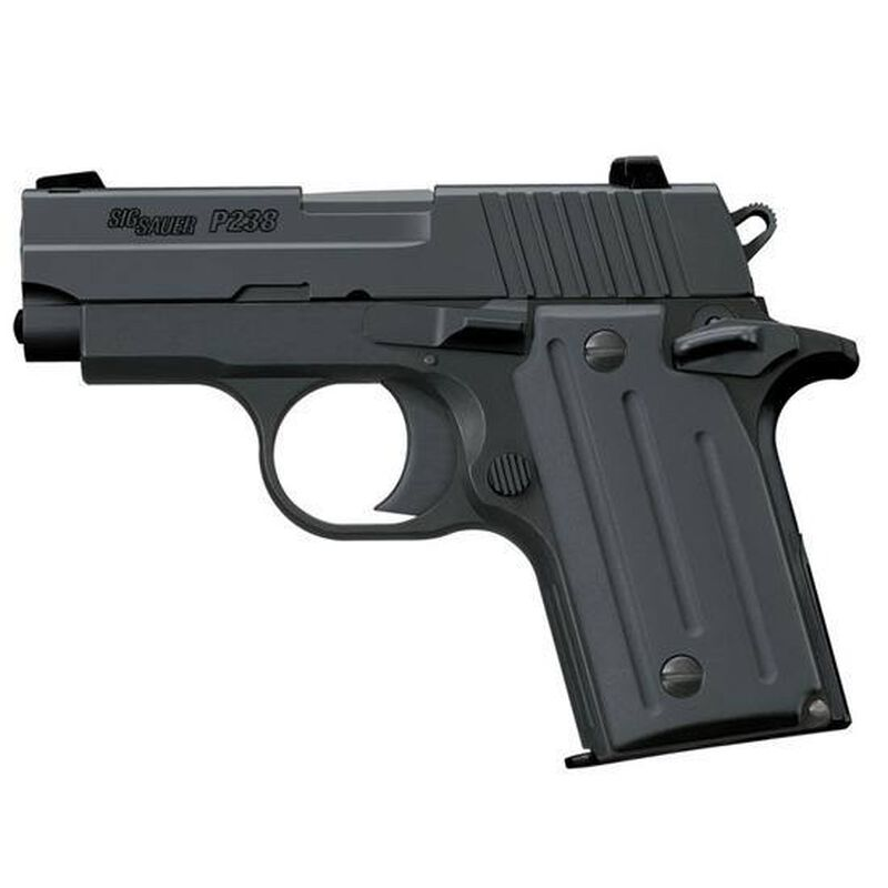 "SIG Sauer P238 Nitron Semi Auto Handgun .380 ACP 2.7"" Barrel 6 Rounds Polymer Grips Black Finish 238-380-B"