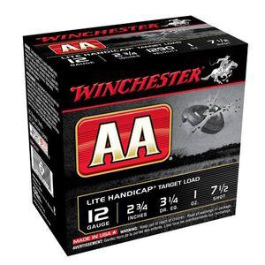 """Winchester AA Lite Handicap 12 Gauge Ammunition 250 Round Case 2-3/4"""" #7.5 Lead 1 oz Shot 1290 fps"""