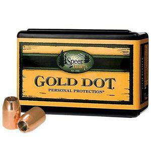 "Speer Gold Dot Personal Protection Handgun Bullets .45 Caliber .451"" Diameter 185 Grain Gold Dot Hollow Point Projectile 100 Count Per Box"