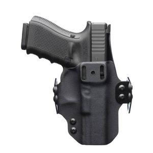 """BlackPoint Tactical DualPoint Appendix Outside The Waistband Holster GLOCK 19/23/32 Right Hand Draw 1.75"""" Strut Loop Kydex Matte Black"""