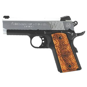 "American Classic Amigo 1911 Officer's Semi Automatic Pistol .45 ACP 3.5"" Barrel 7 Round Capacity Wood Grips Duo Tone Finish ACA45DT"
