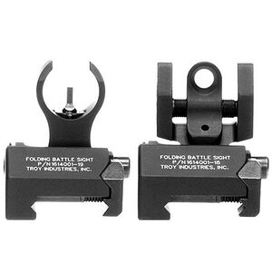Troy Industries HK Tritium Micro BattleSights Front and Rear Sight Black SSIG-IAR-STBT-00