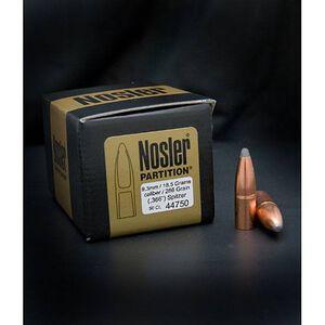 "9.3mm Caliber .366"" Diameter 18.5 Gram 286 Grain Spitzer Nosler Partition Rifle Bullets 50 Bullets per Box"