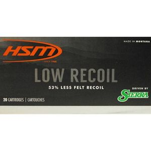 HSM Low Recoil 7mm-08 Rem Ammunition 20 Rounds 140 Grain Sierra SBT