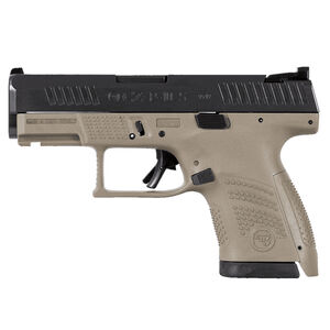 "CZ P-10 S Sub-Compact 9mm Luger Semi Auto Pistol 3.5"" Barrel 12 Rounds Night Sight Fiber Reinforced Polymer Frame FDE/Black Finish"