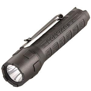 Streamlight PolyTac X 600 Lumen Tactical White LED Flashlight Multi-Fuel Compatible Ten-Tap Programming Removable Pocket Clip Nylon Polymer Housing Matte Black Finish