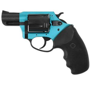 "Charter Arms Undercover Lite Revolver .38 Special +P 2"" Barrel 5 Round Black Rubber Grip Aluminum Turquoise Black Finish 53864"
