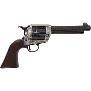"E.M.F. GWII Deluxe Alchimista III 1873 .45 LC Revolver 5.5"" Octagon Barrel 6 Rounds Engraved Silver Frame Walnut Grip Blued"