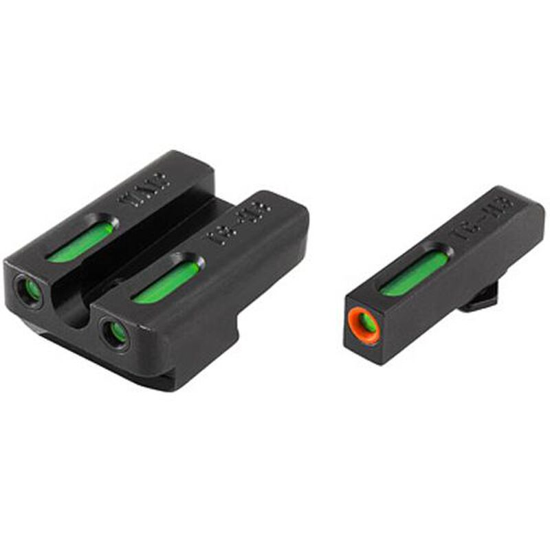 TRUGLO TFX Pro Walther P99/PPQ Front and Rear Set Green TFO Night Sights Orange Ring Steel Black TG13WA1PC
