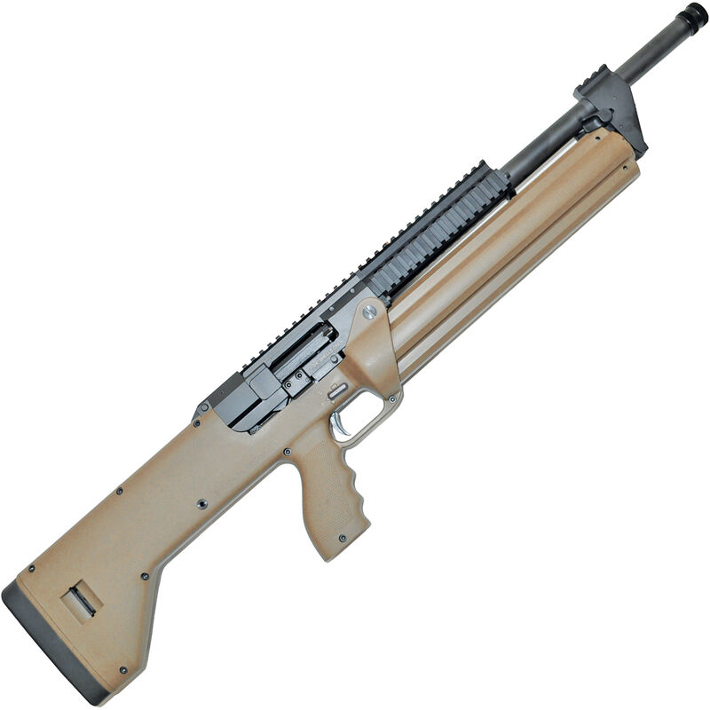 "SRM Arms SRM-1228 Semi Auto Shotgun 18.5"" Barrel 28 Rounds Detachable Manually Indexing Magazine Aguila Minishells Only Polymer Stock Flat Dark Earth"
