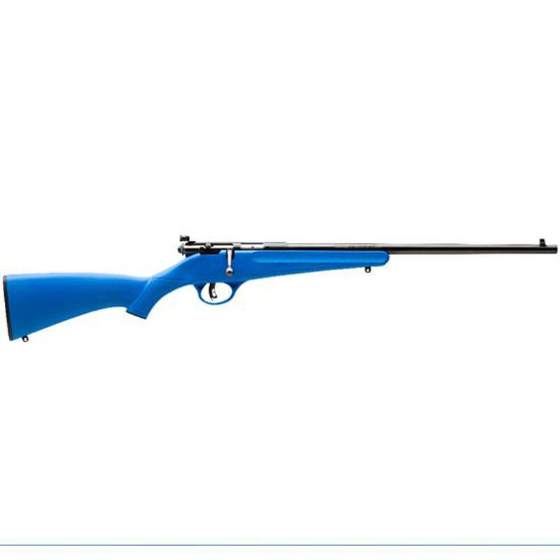 """Savage Rascal Youth Bolt Action Rifle .22 S, L, LR 16.125"""" Barrel 1 Shot Adjustable Peep Sight Synthetic Stock Mate Blue Finish 13785"""