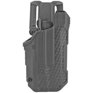 BLACKHAWK! T-Series L2D Level 2 Light Bearing Duty Holster Fits SIG Sauer P320/250 with Streamlight TLR-1 and 2 Right Hand Polymer Basketweave Finish Black