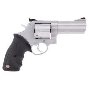 "Taurus 44 Double Action Revolver .44 Magnum 4"" Ported Barrel 6 Rounds Fixed Front Sight/Adjustable Rear Sight Rubber Grip Matte Stainless Steel Finish"