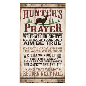 """Open Road Brands Hunters Prayer Tin Sign 14.5""""H x 8.5""""W x 0.75"""" Embossed"""