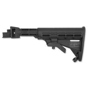 TAPCO INTRAFUSE T6 AK-47 Collapsible Stock For Stamped Receiver, Black