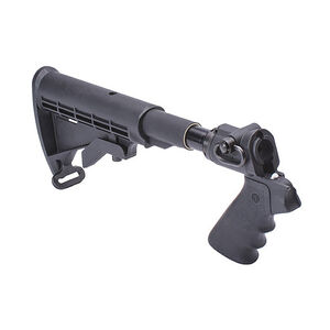 Mesa Tactical LEO Telescoping Stock Adapter Hydraulic Recoil Kit Mossberg 500 12 Gauge AR-15 Stock/Pistol Grip Conversion QD Sling Swivel Socket Aluminum Matte Black 93220