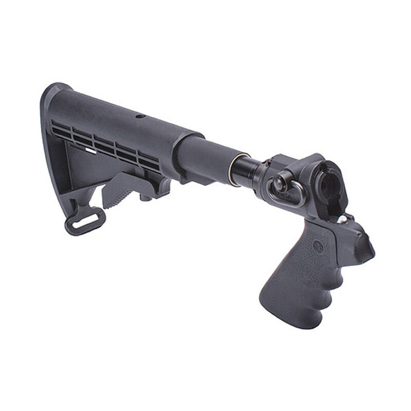 Mesa Tactical LEO Telescoping Stock Adapter Hydraulic Recoil Kit Mossberg  500 12 Gauge AR-15 Stock/Pistol Grip Conversion QD Sling Swivel Socket