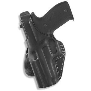 Galco PLE GLOCK 26, 27, 33 Paddle Holster Left Hand Leather Black PLE287B