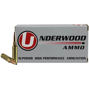 Underwood Ammo 6.5 Creedmoor Ammunition 20 Round Box 140 Grain Match Grade Hollow Point Boat Tail Projectile 2700 fps