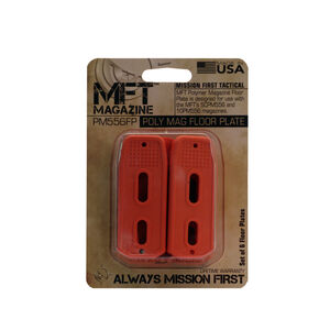 Mission First Tactical SCPM556/10PM556 Magazine Floor Plate Polymer Orange 6 Pack PM556FP-O