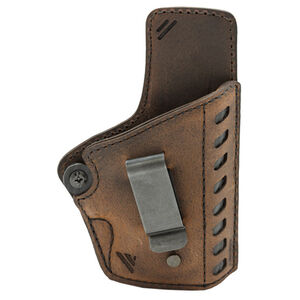 """Versacarry Compound Gen II Series Holster IWB Size 2 Most 1911's with a 3"""" Barrel Right Hand Leather Distressed Brown"""