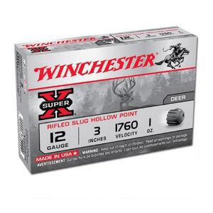 "Winchester Super X 12 Gauge 3"" 1 oz Rifled Slug Five Round Box"