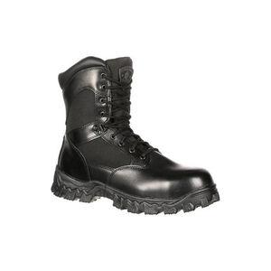 "Rocky International Alpha Force 8"" Side Zip 400G Insulated Waterproof Public Service Boot Size 10.5 Black"