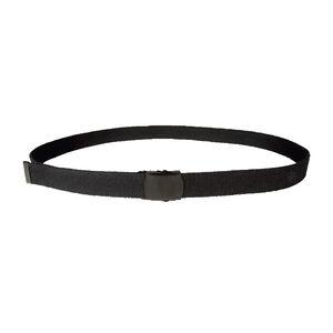 """5ive Star Web Belt 1.25"""" Wide Size 44"""" Black Buckle Black Belt"""