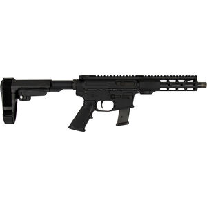 "Windham Weaponry 9mm Luger AR-15 Semi Auto Pistol 9"" Barrel 17 Rounds Uses GLOCK Style Magazines Free Float Handguard SB Tactical Pistol Brace Black Finish"