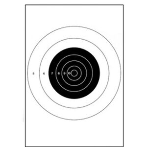 "Action Target B-8 25-Yard Slow Fire Pistol Target 10.5""x12"" Paper Target 100 Pack"