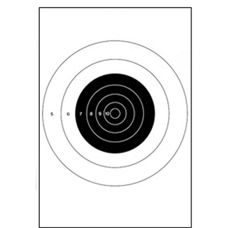 Action Target B-8 25-Yard Slow Fire Pistol Target 10 5