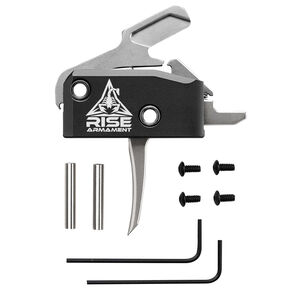 Rise Armament RA-434 High Performance Drop In Trigger For AR-15 With Anti Rotation Pins Silver
