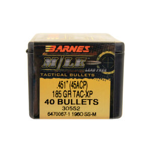 """Barnes .45 Caliber .451"""" Pistol Bullets 40 Projectiles TAC ..."""