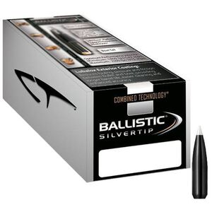 "Nolser .338 Caliber .338"" Diameter 200 Grain Ballistic SilverTip Boat Tail Rifle Bullets 50 Count 51200"