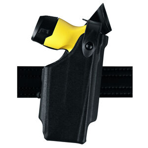 Safariland Model 6520 Taser X26P EDW Level II Retention Duty Holster with Belt Clip Left Hand STX Plain Black 6520-364-412