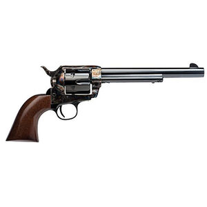 "Cimarron Frontier Revolver Pre-War Model .44-40 Winchester 7-1/2"" Barrel 6 Rounds Wood Grips Case Hardened Frame Standard Blue Finish"